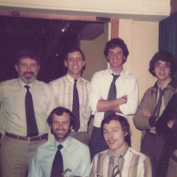 From left:  Brian Taylor, Gordon Archer, Andy Merry, Stuart Clifton, Roger Perrett